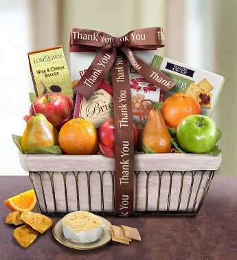Thank You Parisian Terrace Fruit Gift Basket