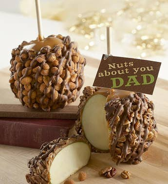 Nuts About Dad Caramel Apples 2 pack