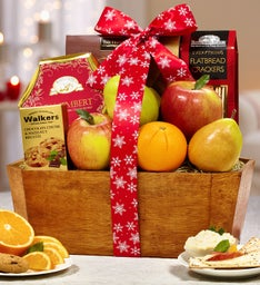 Festive Flurries Holiday Fruit Gift Basket