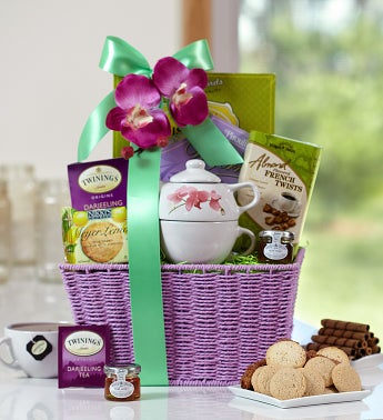 Marvelous Mom's Tea & Sweets Gift Basket