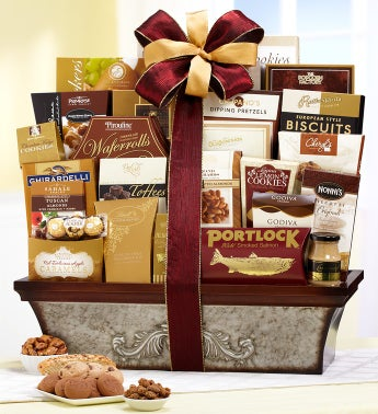 Vintage Scroll Gift Basket
