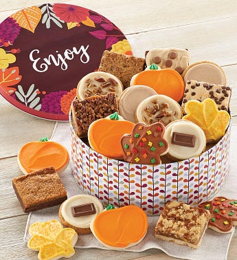 Fall Gift Tin  Cookies and Brownies
