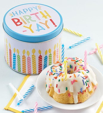 Birthday Mini Tin and Confetti Cake