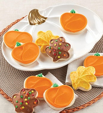 Collectors Edition Pumpkin Plate - Buttercream frosted Cookie Assortment