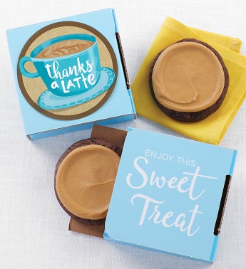 Thanks a Latte Cookie Cards - cases of 24 or 48