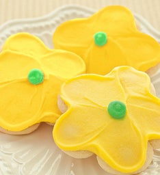 Buttercream Frosted Yellow Flower Cut-out
