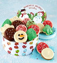 Warmest Holiday Wishes Gift Tin - Frosted Assortment