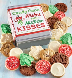 Create Your Own Candy Cane Wishes Gift Tin