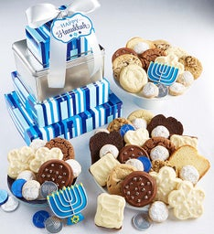Happy Hanukkah Traditions Gift Tower