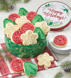 Happy Holidays Tin Holiday Cut-outs