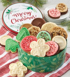 Merry Christmas Tin Create Your Own Cookie Assortment