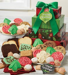 Merry Christmas Bakery Gift Tower
