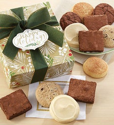 Gluten Free Happy Holidays Sparkling Cookie and Brownie Gift Box