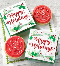 Create Your Own Happy Holidays Cookie Card