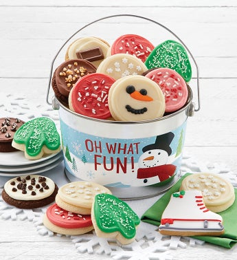 Snowman Cookie Pail