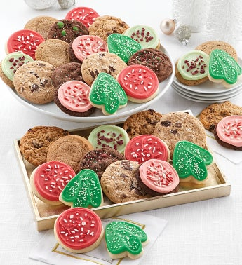 Bow Gift Box 100  Classic Holiday Cookies