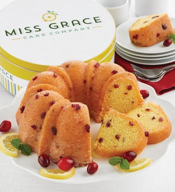 Miss Grace Lemon Cranberry Bundt Cake