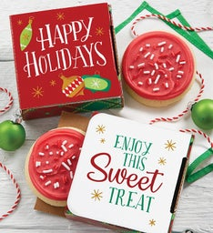 Happy Holiday Cookie Card