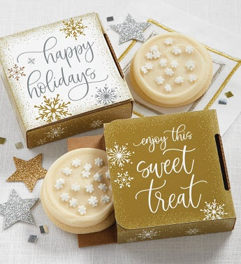Happy Holidays Cookie Card