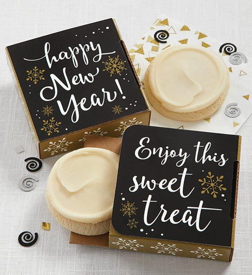 Happy New Year Cookie Card