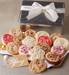 Holiday Punch Design Gift Tin - 16 Cookies
