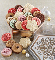 Joy of the Season Gift Tin - 24 Frosted Cookies