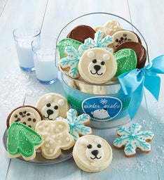 Winter Wishes Frosted Cookie Pail