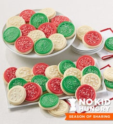 Buttercream Frosted Christmas Cutout Cookies