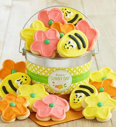 Sunny Day Buttercream Frosted Cookie Pail