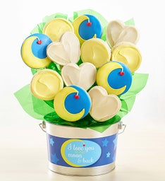 Love You to the Moon Cookie Flower Pot