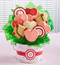 Happy Valentine's Day Cookie Flower Pot