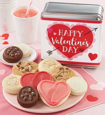 Happy Valentines Day Cookie Tin