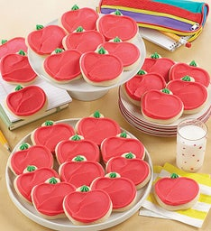 Buttercream Frosted Apple Cut-Out Cookies