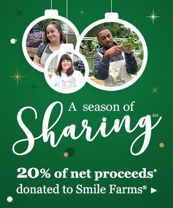 A season of sharing 20% of net proceeds* donated to Smile Farms
