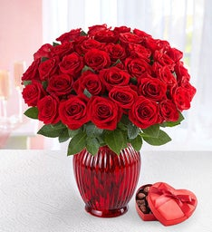 Three Dozen Romantic Red Roses