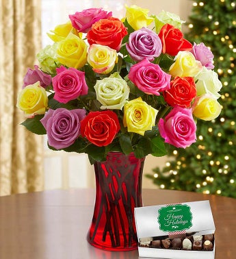 Holiday Lights Roses, Buy 12, Get 12 Free
