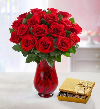 Red Rose Bouquet, 18 Stems