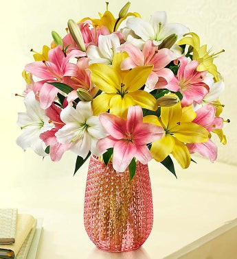 Sweet Spring Lilies, Double Your Bouquet for Free