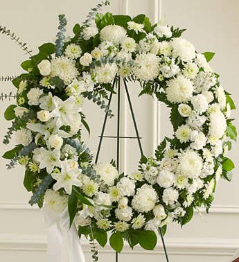 White Standing Wreath