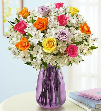 Assorted Rose & Peruvian Lily Bouquet