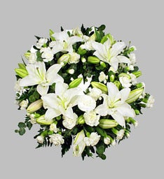 White Lily Wreath for Sympathy