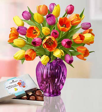 Radiant Tulips for Mom, 15-30 Stems