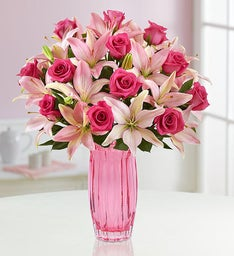 Magnificent Pink Rose & Lily Bouquet
