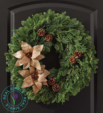 Real Simple® Pinecone Wreath