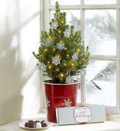 Seasons Greetings Tree + Free Candle