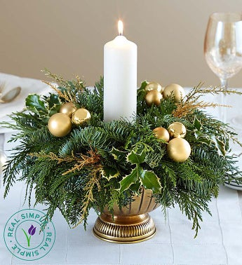 Golden Lights Holiday Centerpiece by Real Simple®