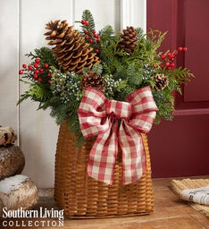 Welcome Winter Evergreen Basket