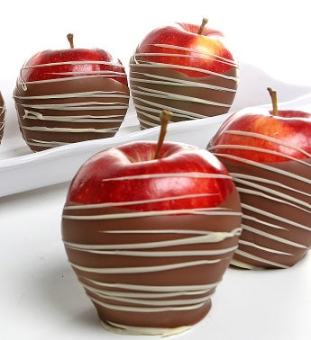 Belgian Chocolate Dipped Apples- 6pc
