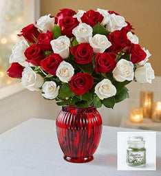 Peppermint Roses + Free Candle