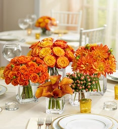Golden Sunset Centerpiece Collection